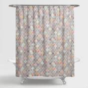 Geometric Multicolor Shower Curtain