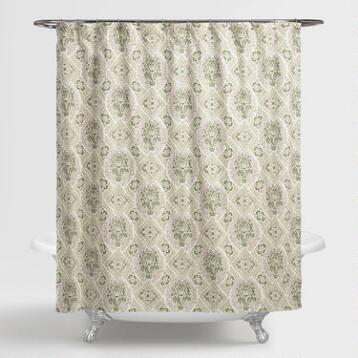 Helsinki Tile Shower Curtain