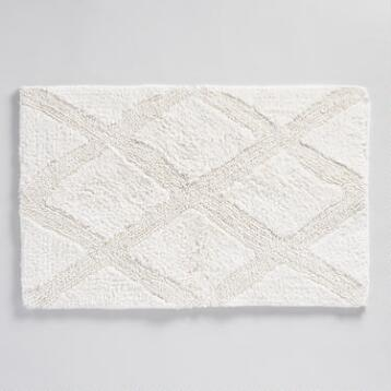 Kayden Diamond Tufted Bath Mat