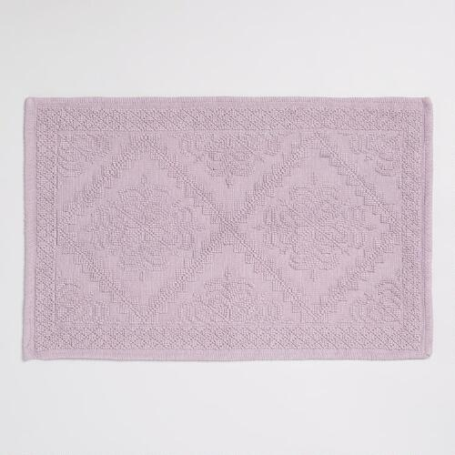 Lavender Double Diamond Woven Bath Math