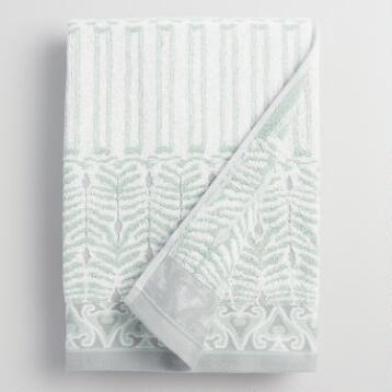 Mint Kasia Feather Bath Towel