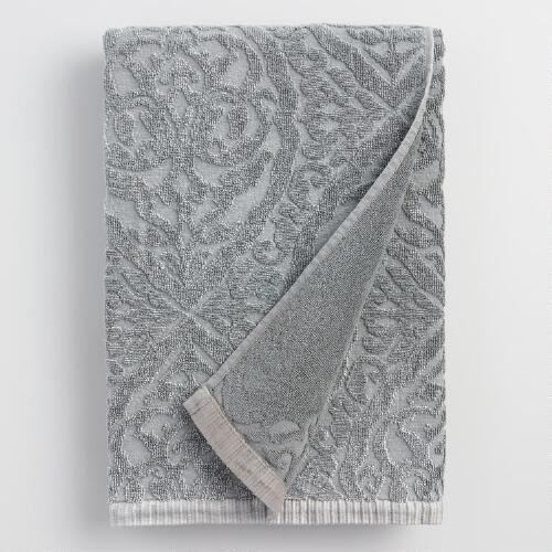 Gray Ogee Therese Bath Towel