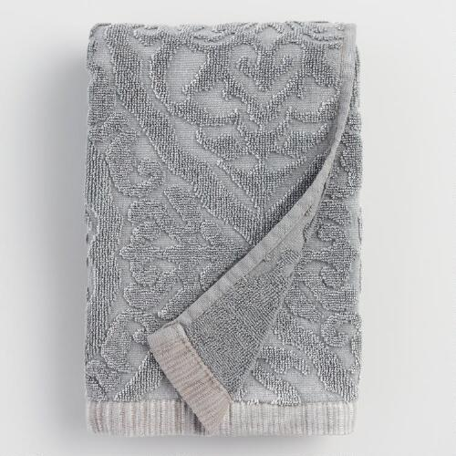 Gray Ogee Therese Washcloth Set of 2