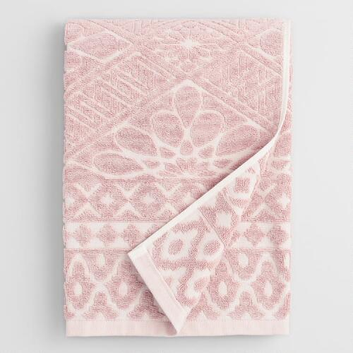 Blush Madeleine Sculpted Bath Towel