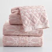 Blush Madeleine Sculpted Towel Collection