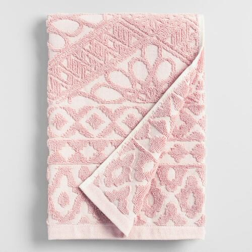Blush Madeleine Sculpted Hand Towel