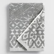 Gray Madeleine Sculpted Hand Towel