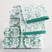 Aqua Tatiana Jacquard Towel Collection