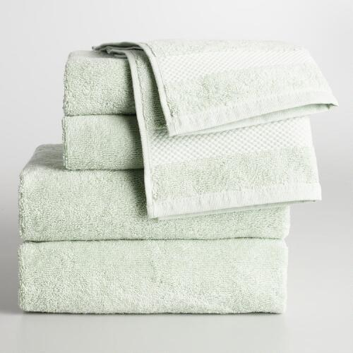 Mint Cotton Towel Collection