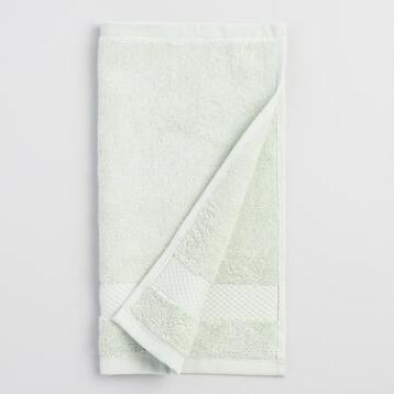 Mint Cotton Washcloth Set of 2