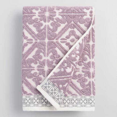 Lavender Cassandra Sculpted Bath Towel