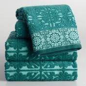 Aqua Mykonos Sculpted Towel Collection