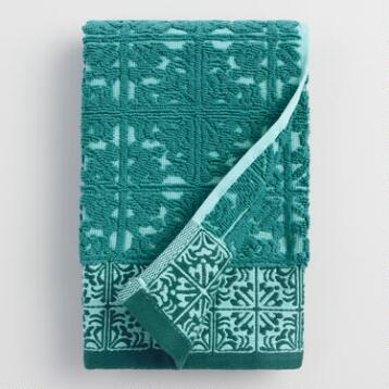 Aqua Mykonos Sculpted Hand Towel