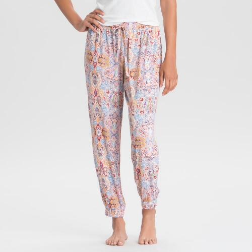Multicolored Damask Mirabella Pajama Pants