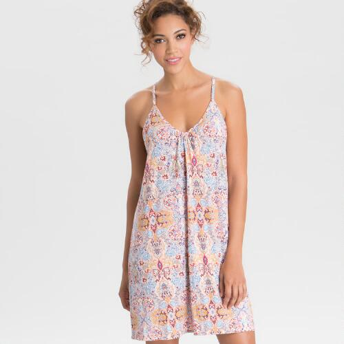 Multicolored Damask Mirabella Chemise