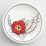Painted Flower Ceramic Trinket Dish