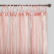 Blush Pink Crinkle Cotton Voile Curtains Set of 2