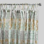 Boho Patch Crinkle Cotton Voile Curtains Set of 2
