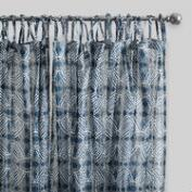 Blue Bandhani Cotton Voile Curtains Set of 2