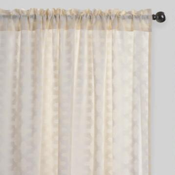 Arabesque Cutwork Sheer Cotton Curtains Set of 2