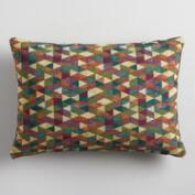 Multicolor Jacquard Lumbar Pillow