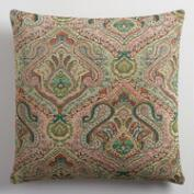 Sage Green Jacquard Throw Pillow