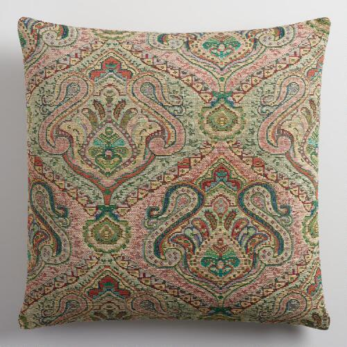 Sage Green Jacquard Throw Pillow World Market