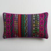 Oversized Multicolor Dobby Stripe Lumbar Pillow