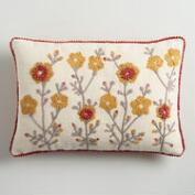 Gold Garden Embroidered Lumbar Pillow