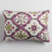 Violet Medallion Jacquard Lumbar Pillow