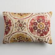 Warm Suzani Jacquard Lumbar Pillow