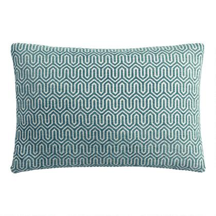 Midnight Blue Chenille Lumbar Pillow