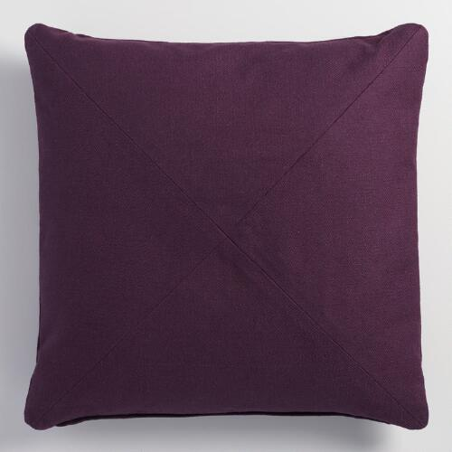 Throw Pillows For Purple Couch : Purple Herringbone Cotton Throw Pillow World Market