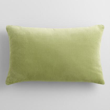 Sage Green Velvet Lumbar Pillow