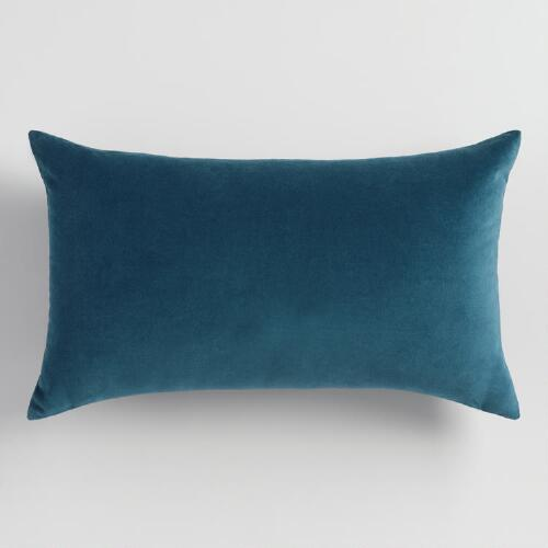 Midnight Blue  Velvet Lumbar Pillow