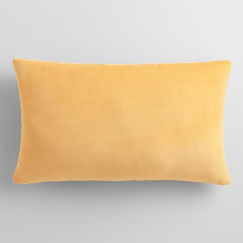 Gold Velvet Lumbar Pillow