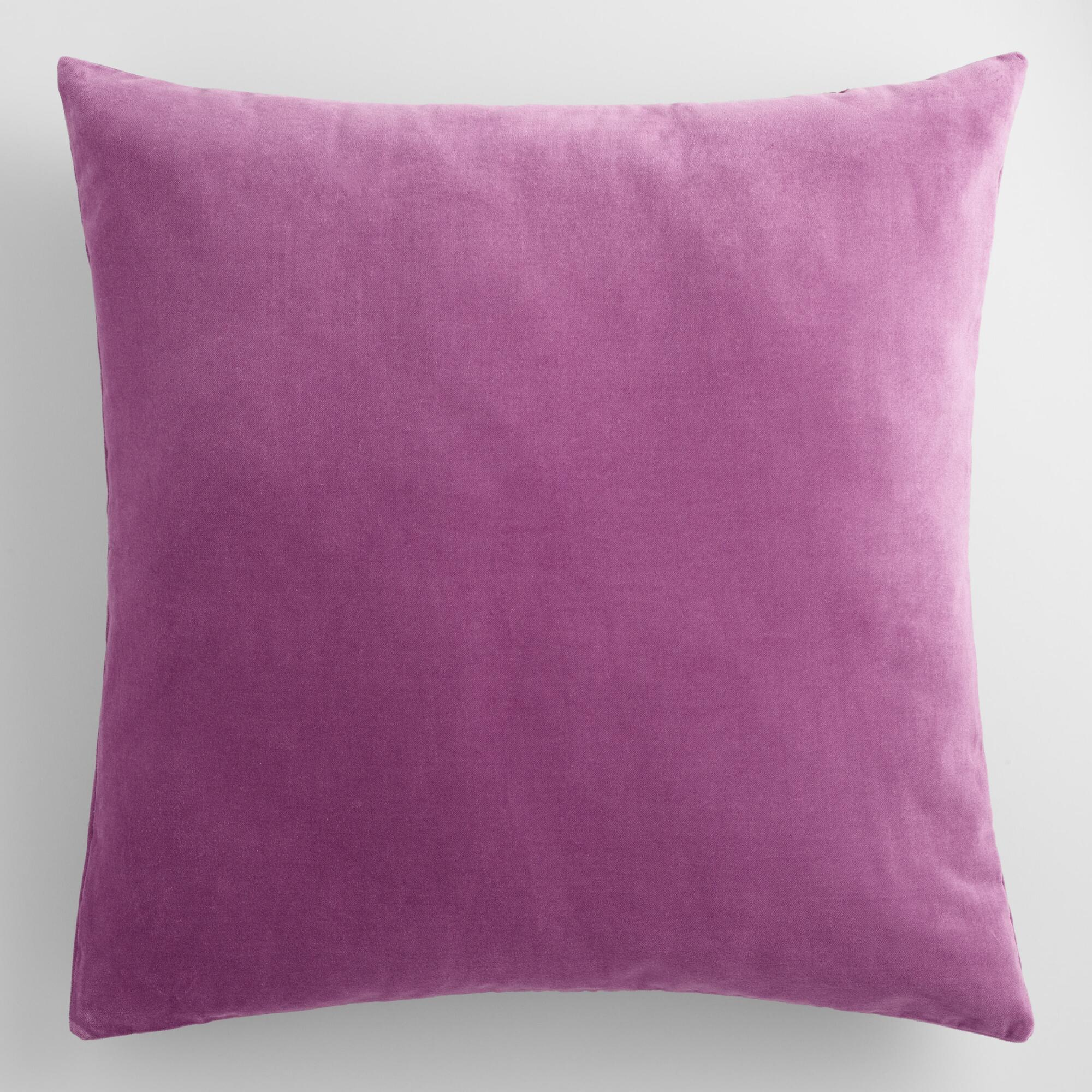 Purple Velvet Decorative Pillows : Amethyst Purple Velvet Throw Pillow World Market