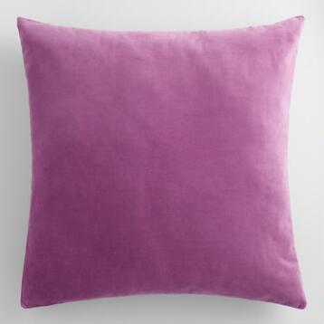 Amethyst Purple Velvet Throw Pillow