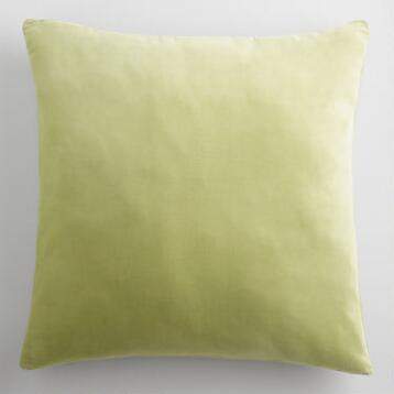 Sage Green Velvet Throw Pillow