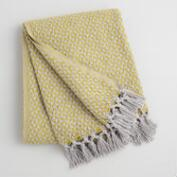 Green and Gray Geo Woven Throw