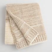 Oatmeal and Ivory Luxe Knit Sweater Throw