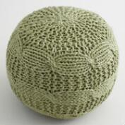 Sage Green Sweater Pouf