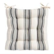 Black Villa Stripe Chair Cushion