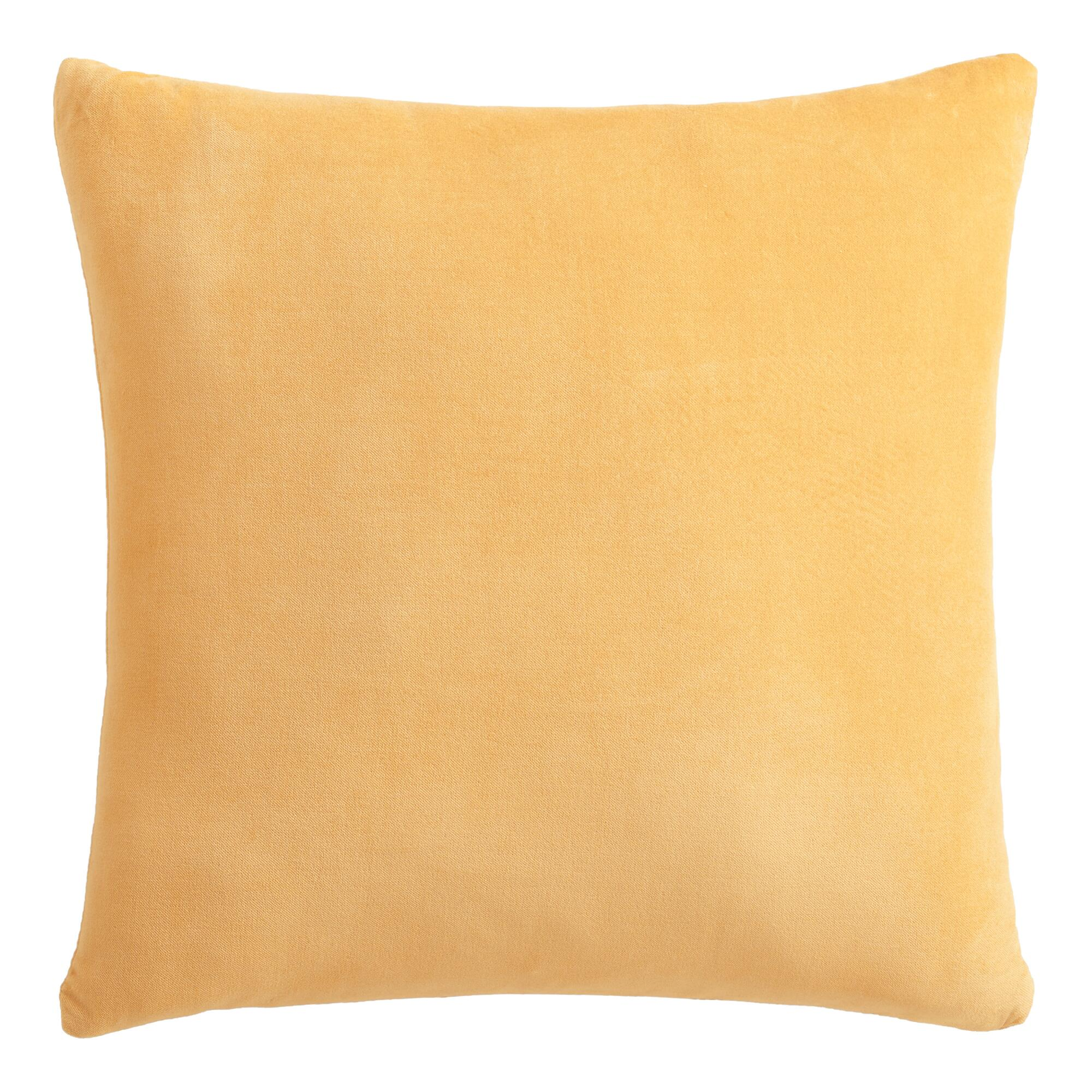 Throw Pillows Gif : Gold Velvet Throw Pillow World Market