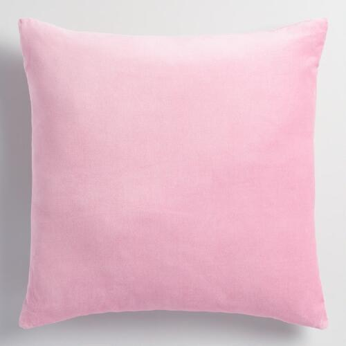 Lilac Velvet Throw Pillow