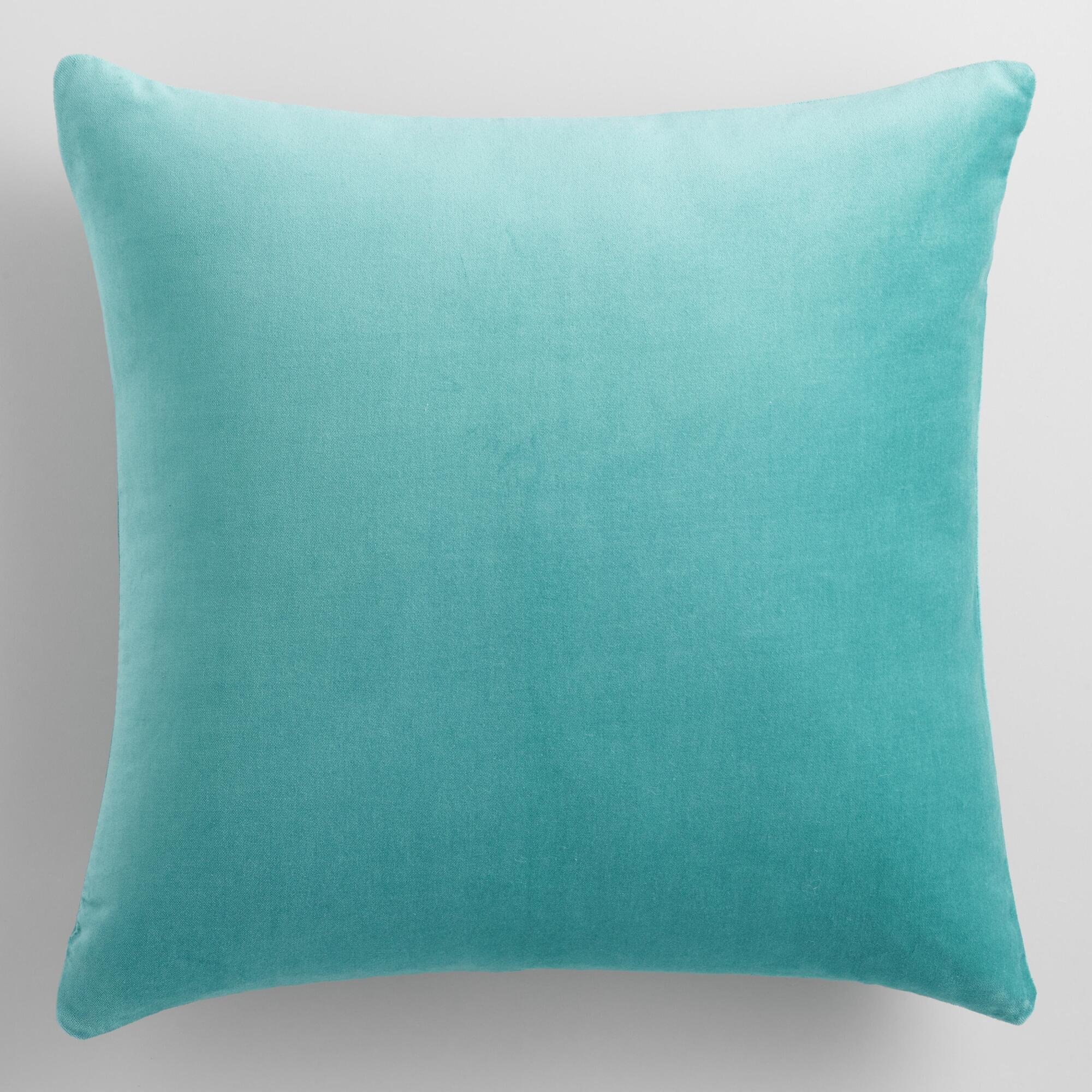 Sky Blue Velvet Throw Pillow World Market