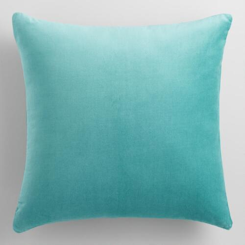 Teal  Velvet Throw Pillow