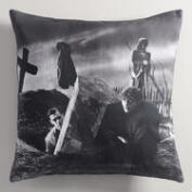 Universal Frankenstein Graveyard Throw Pillow