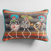 Woven Day of the Dead Lumbar Pillow