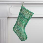 Green Chevron Sari Stocking